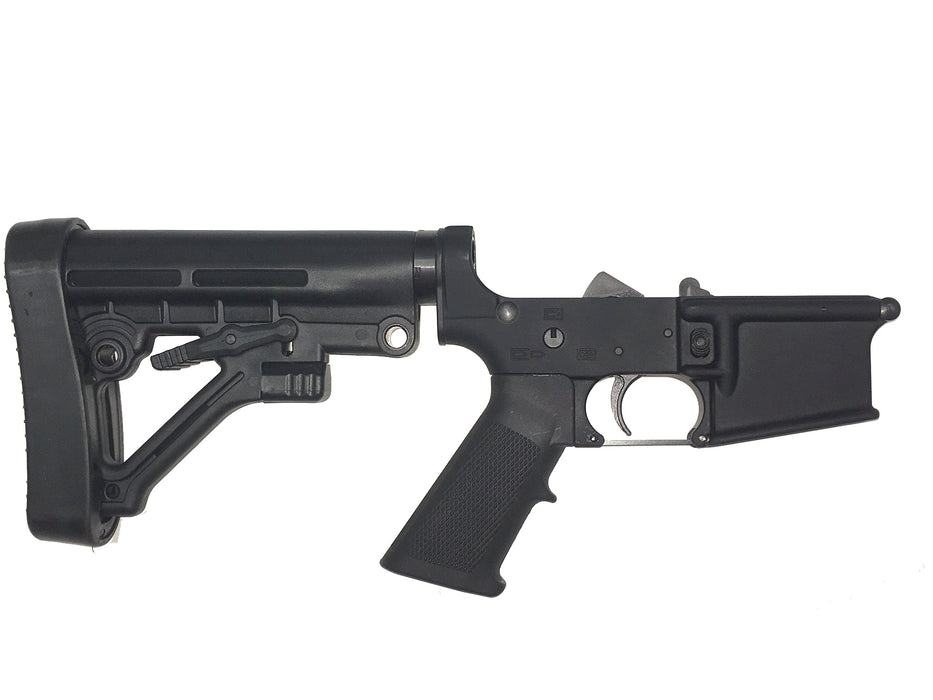 Scorpion Armaments AR-15 Complete Lower Receiver Collapsible 6 Position Predator Buttstock