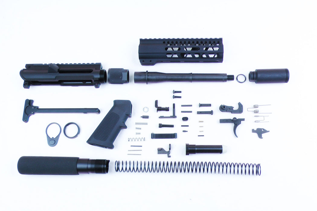 "SA9 'Stinger' Series 9mm 7.5"" 1:10 Pistol Builder Kit with 7"" M-LOK Handguard & Pistol Buffer Tube Assembly (Glock & Colt Compatible)"