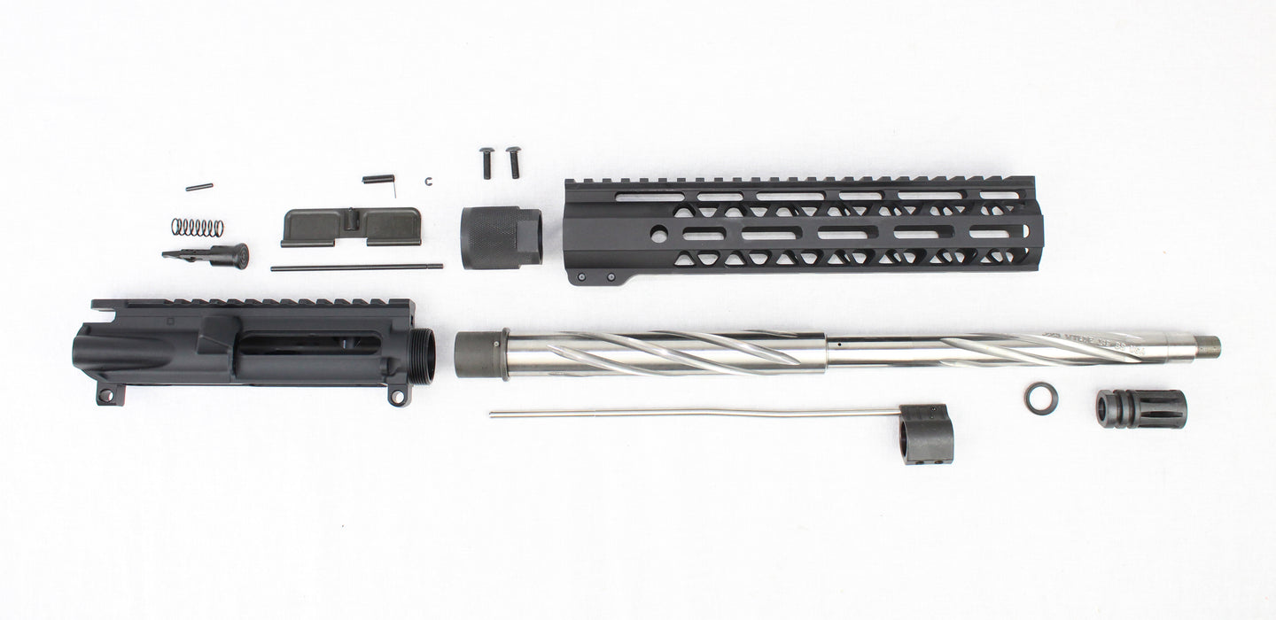 "'SPECIALTY SERIES' .223 Wylde 16"" 1:9 Stainless Steel Spiral Fluted Carbine Upper Kit"