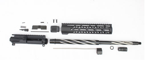 "'SPECIALTY SERIES' .223 Wylde 18"" 1:8 Stainless Steel Nitride/Spiral Fluted Bear Claw Mid-Length Upper Kit"