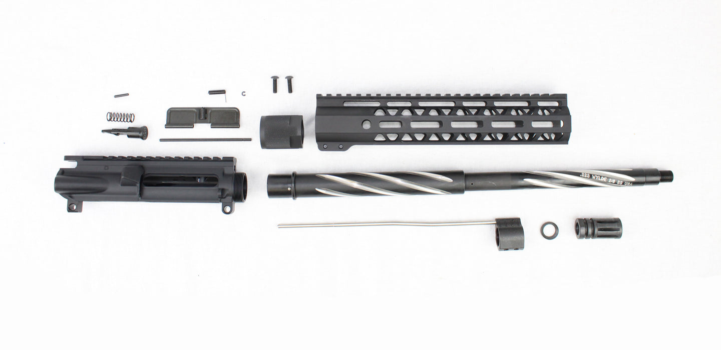 "'SPECIALTY SERIES' .223 Wylde 16"" 1:8 Stainless Steel Nitride/Spiral Fluted Bear Claw Carbine Upper Kit"