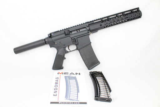 "AR9 CONVERTED ZAVIAR STINGER SERIES COMPLETE PISTOL 7.5"" 9mm 1/10 NITRIDE 10"" RAIL (PAIRED WITH 5.56 LOWER + 9MM CONVERSION MAGAZINE)"