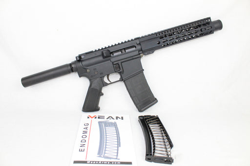 "AR9 CONVERTED ZAVIAR STINGER SERIES COMPLETE PISTOL 7.5"" 9mm 1/10 NITRIDE 9"" RAIL (PAIRED WITH 5.56 LOWER + 9MM CONVERSION MAGAZINE)"
