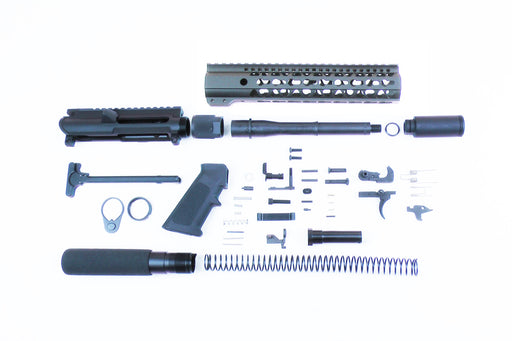 "SA9 'Stinger' Series 9mm 7.5"" 1:10 Pistol Builder Kit with 10"" KeyMod GEN2 Handguard & Pistol Buffer Tube Assembly (Glock & Colt Compatible)"