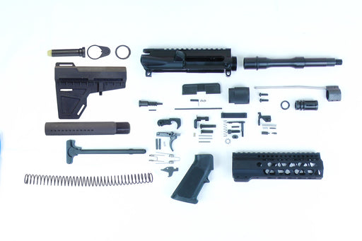 "SA8 'Venom' Series 7.5"" 1:7 Pistol Builder Kit with 7"" KeyMod GEN2 Handguard & KAK Shockwave Blade Stock Kit"