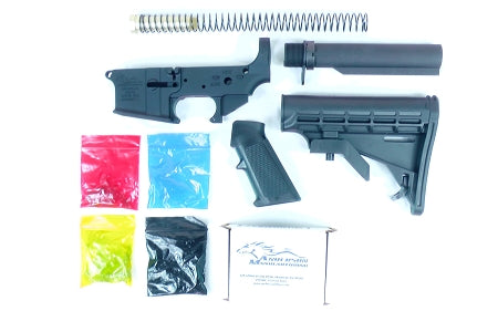 Anderson Manufacturing Stripped Lower Receiver, Parts Kit, and MIL-SPEC M4 Stock Kit