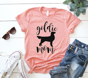 Goldie Mom Tee, Golden Retriever Mom Tee, Golden Retriever Mama Tee, Golden Retriever Shirt - Wooden Heart Designs
