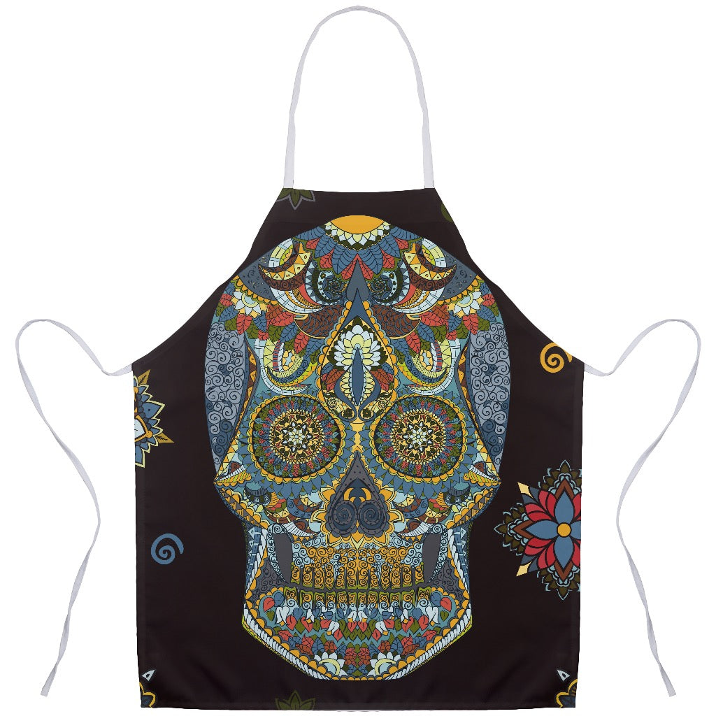 Chef Virginia Lopez Day of the Dead Apron