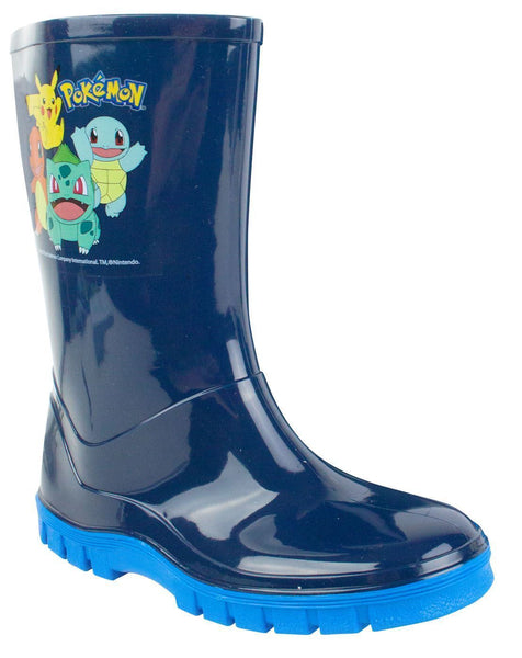 Pokemon Kanto Starters Boy's Wellies