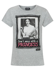 Star Wars Don't Mess With A Princess Girl's T-Shirt