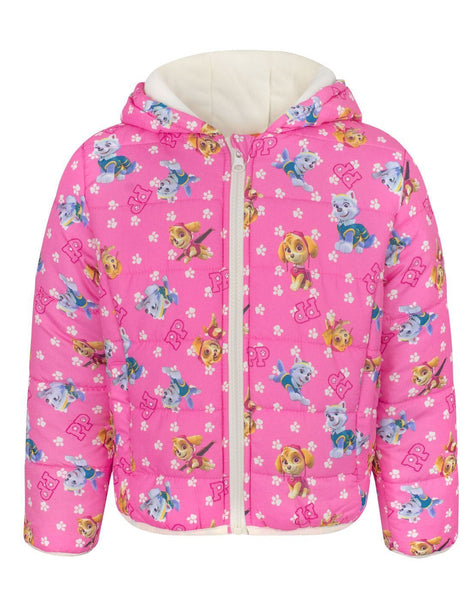 Paw Patrol Characters Girl's Hooded Coat