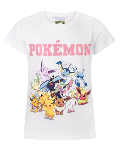 Pokemon Pikachu & Eevee Evolutions Girl's T-Shirt