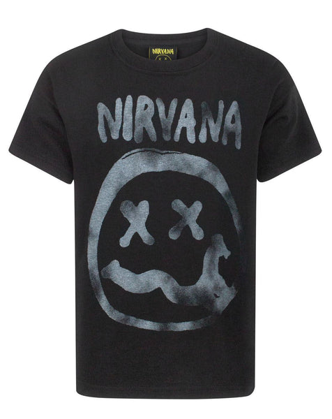 Nirvana Smiley Logo Boy's T-Shirt