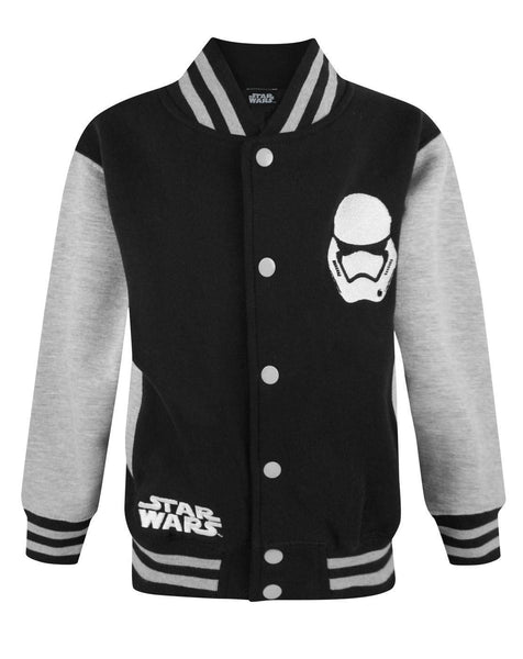 Star Wars Force Awakens First Order Stormtrooper Boy's Varsity Jacket