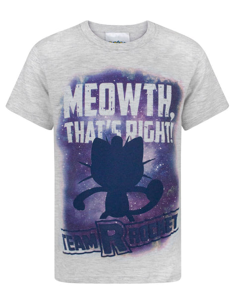 Pokemon Meowth That's Right Boy's T-Shirt
