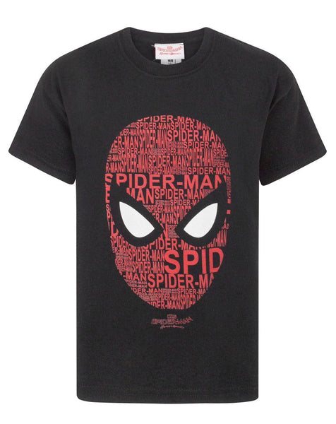 Spider-Man Homecoming Text Mask Boy's T-Shirt