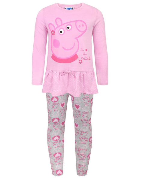 Peppa Pig The Cutest Girl's T-Shirt And Legging Set