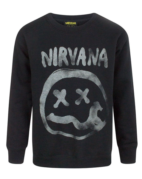 Nirvana Smiley Logo Boy's Sweatshirt
