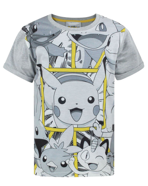 Pokemon Panels Boy's T-Shirt