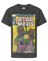 Star Wars Boba Fett Comic Boy's T-Shirt