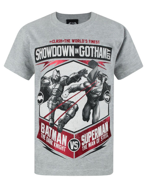 Batman VS Superman Showdown Boy's T-Shirt