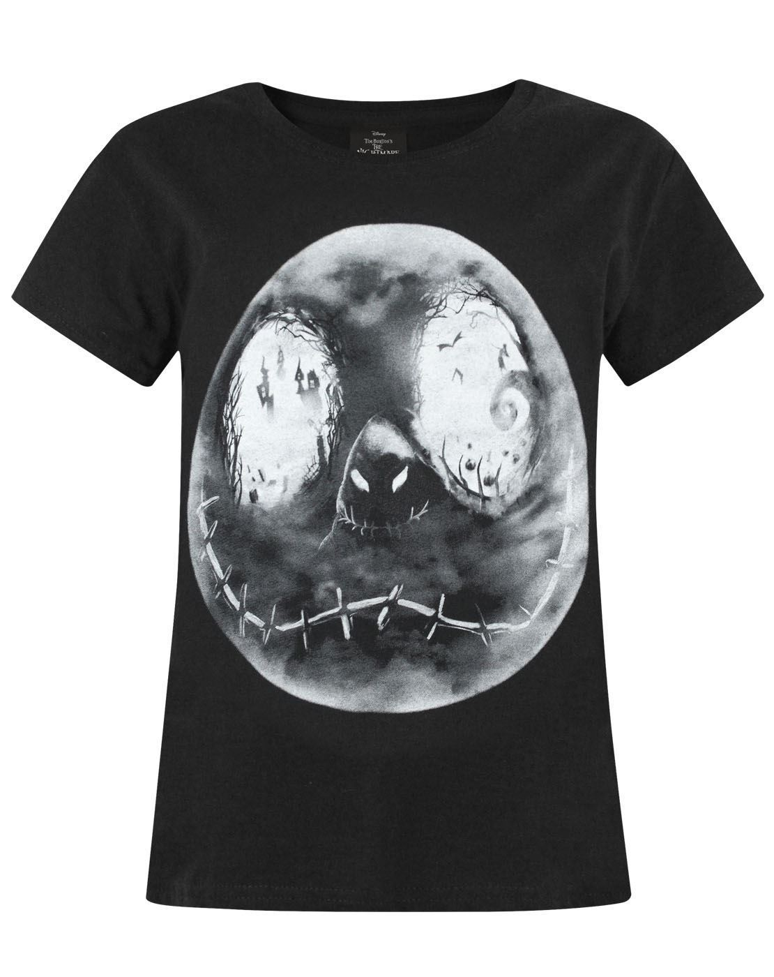 Nightmare Before Christmas Jack Moon Girl's T-Shirt