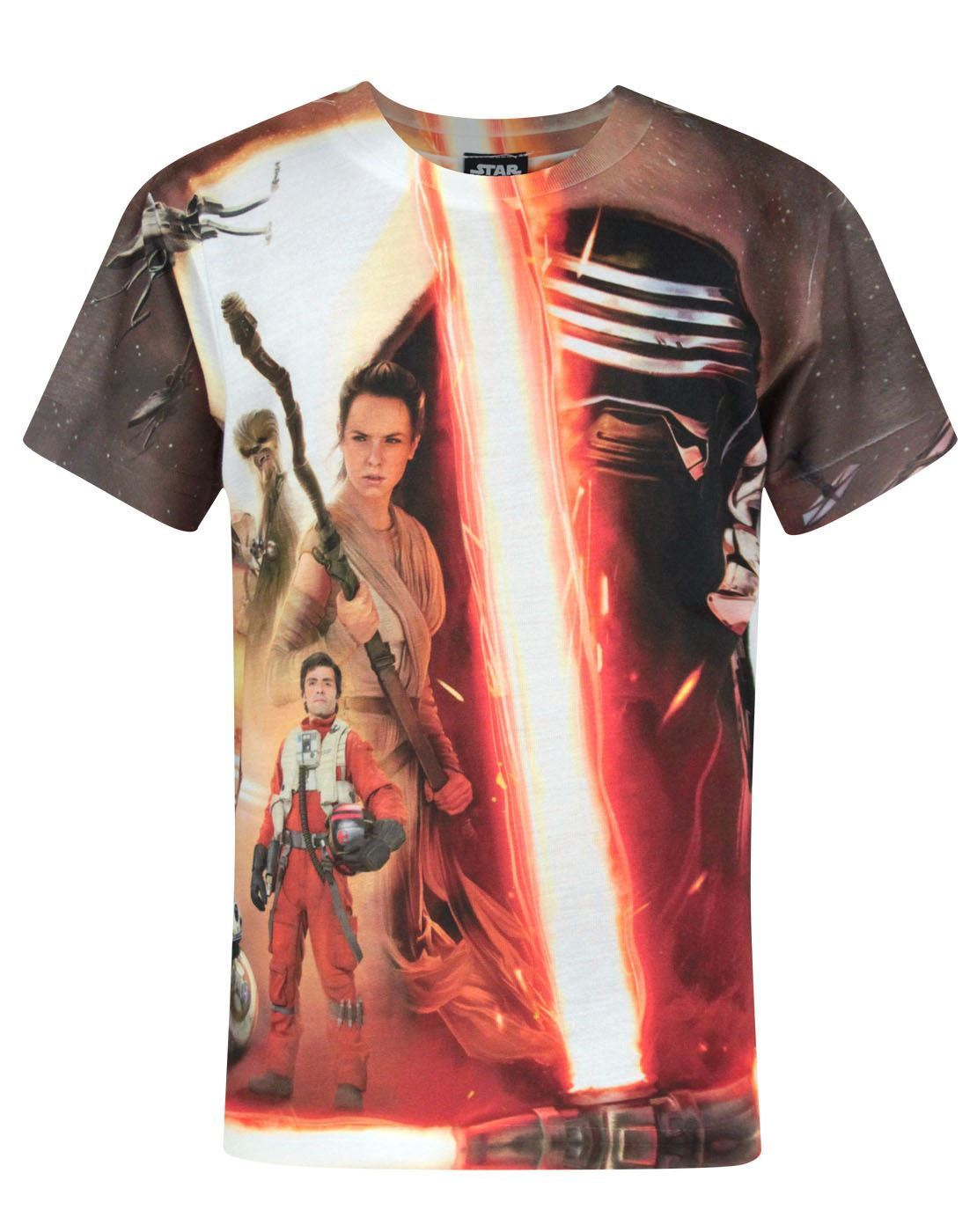 Star Wars Force Awakens Heroes & Villains Sublimation Boy's T-Shirt