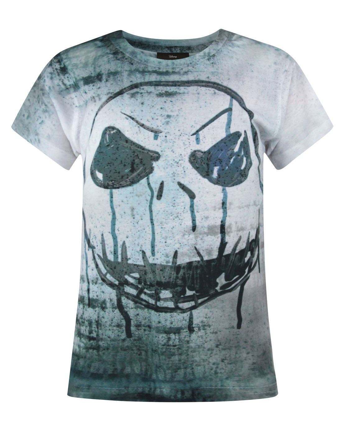 Nightmare Before Christmas Jack Face Sublimation Girl's T-Shirt