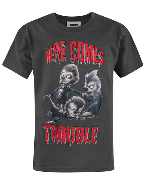 Hotel Transylvania Here Comes Trouble Boy's T-Shirt