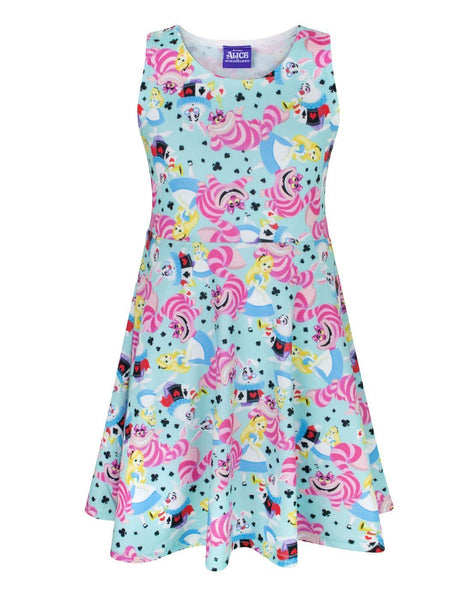 Disney Alice In Wonderland Girls Skater Dress