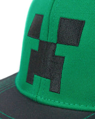 Minecraft Creeper Face Snapback Cap