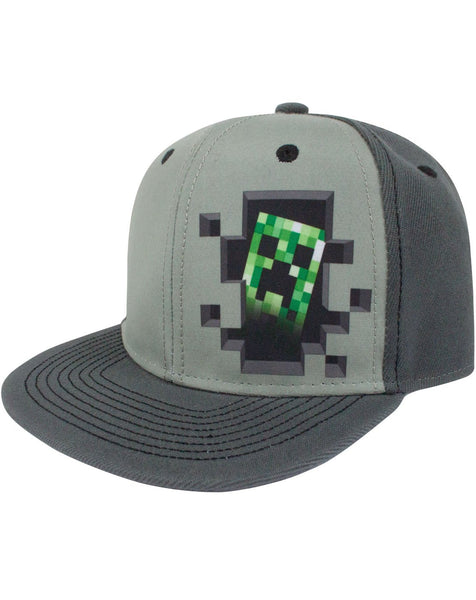 Minecraft Creeper Inside Snapback Cap