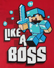 Minecraft Like A Boss Boy's T-Shirt