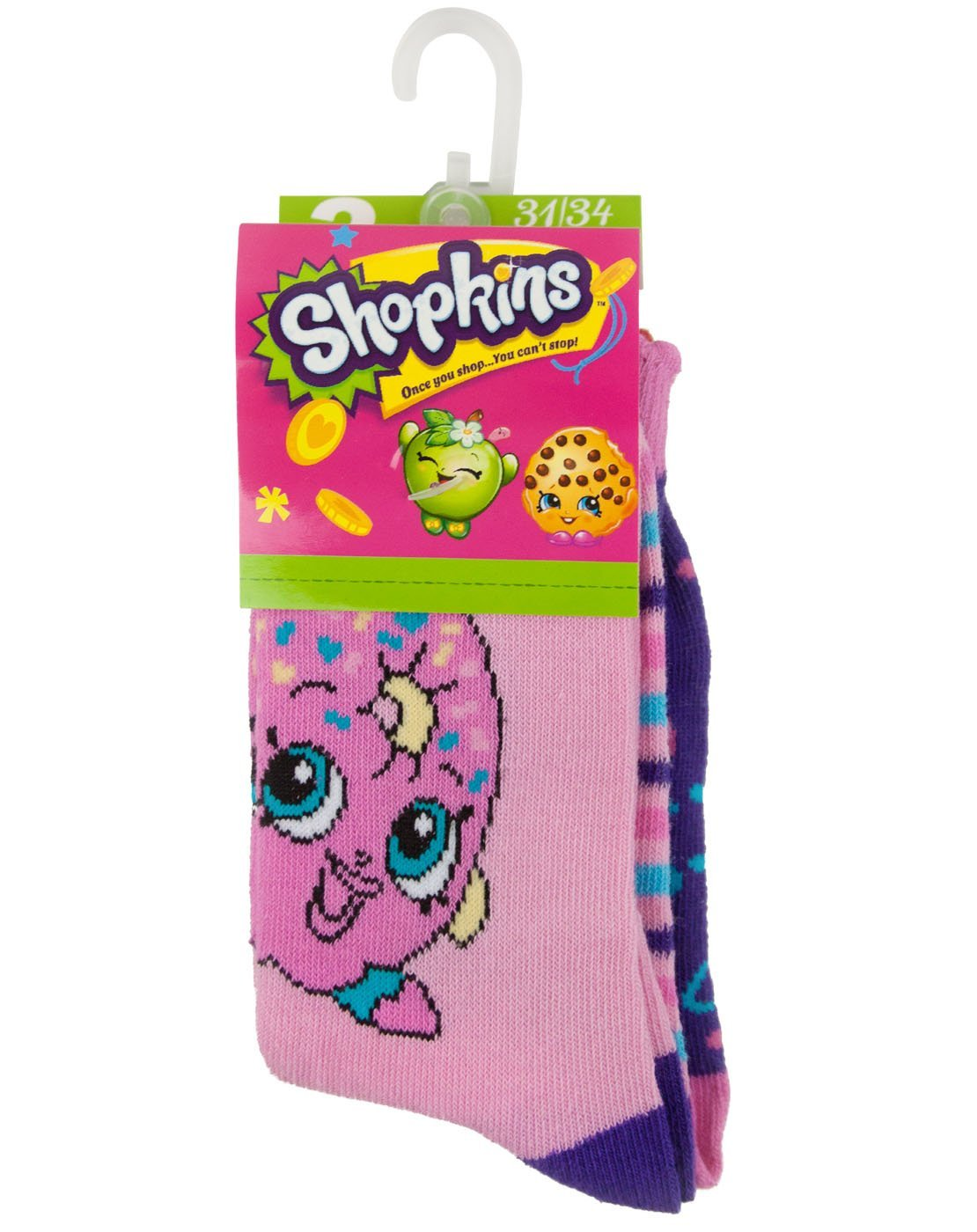 Shopkins Assorted Girl's Socks Set 1