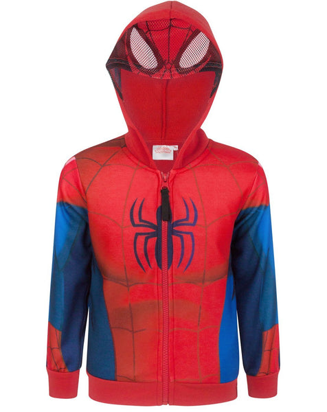 Spider-Man Boy's Zip Up Classic Costume Hoodie