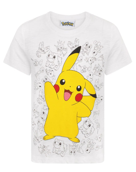 Pokemon Pikachu Wave Boy's T-Shirt
