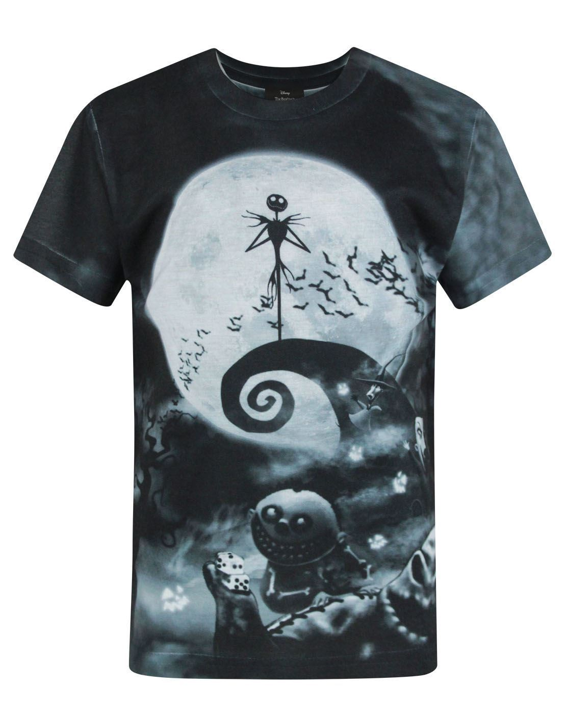 Nightmare Before Christmas Characters Sublimation Boy\'s T-Shirt ...