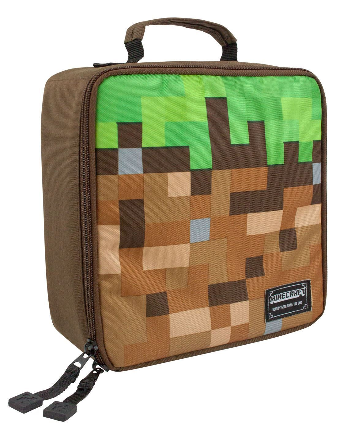Minecraft Grass Block Lunch Box