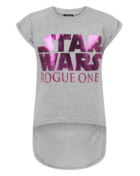 Star Wars Rogue One Girl's Dipped Hem T-Shirt