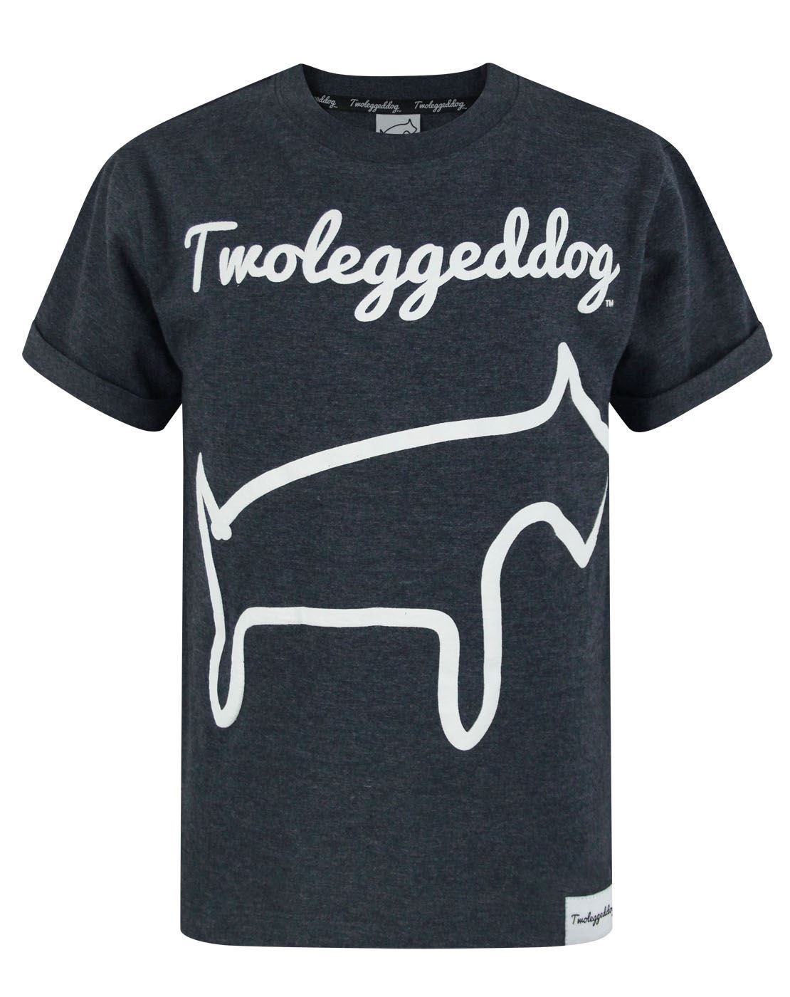 Two Legged Dog Puff Print Boy's T-Shirt