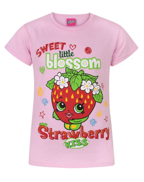 Shopkins Strawberry Kiss Sweet Blossom Girl's T-Shirt