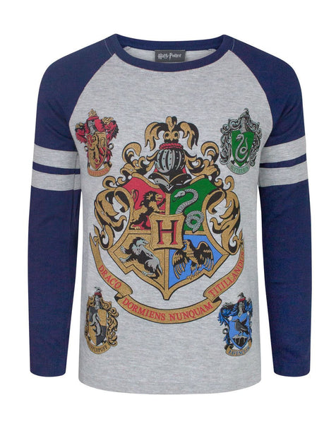 Harry Potter Hogwarts Boy's Raglan T-Shirt