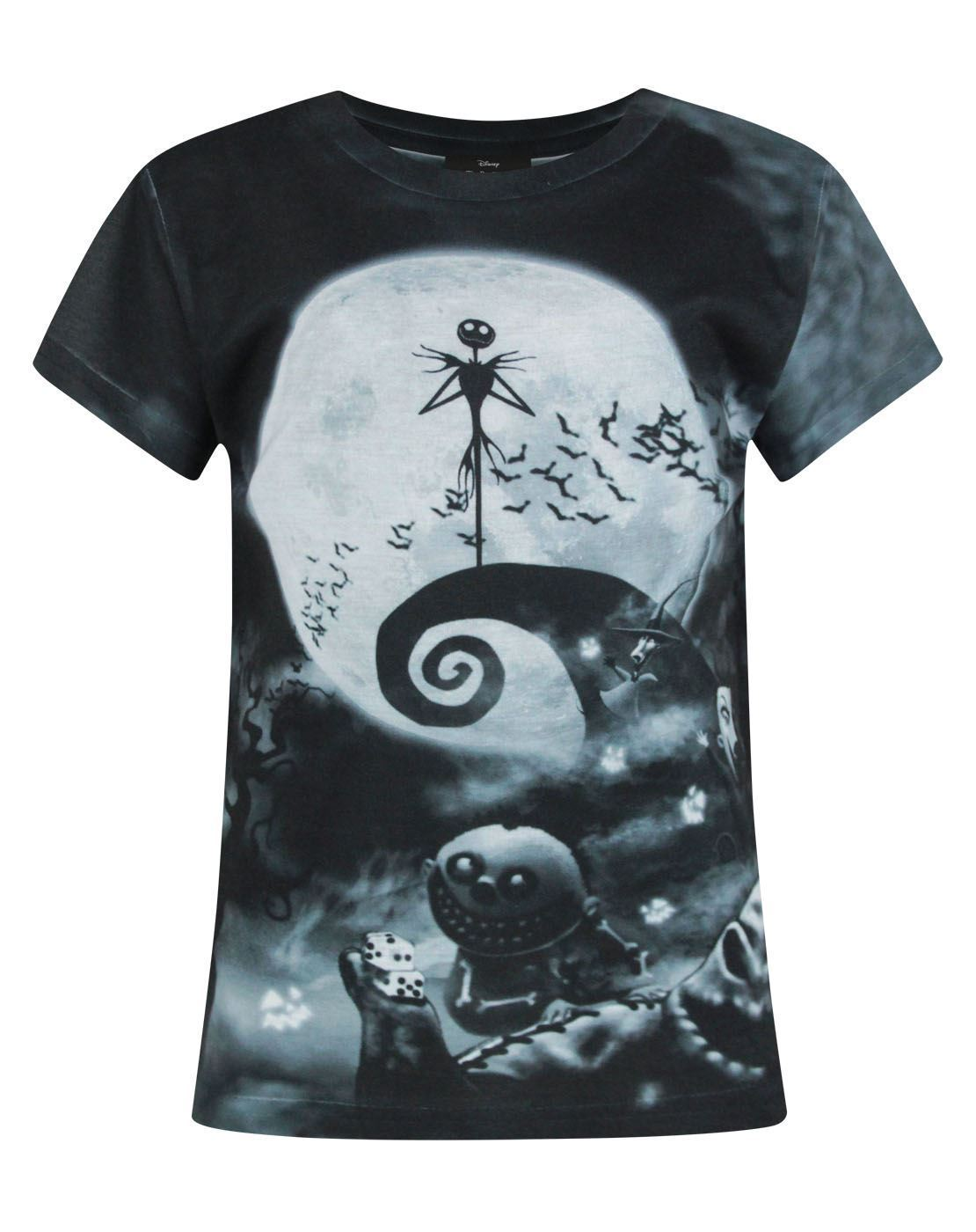 Nightmare Before Christmas Characters Sublimation Girl's T-Shirt