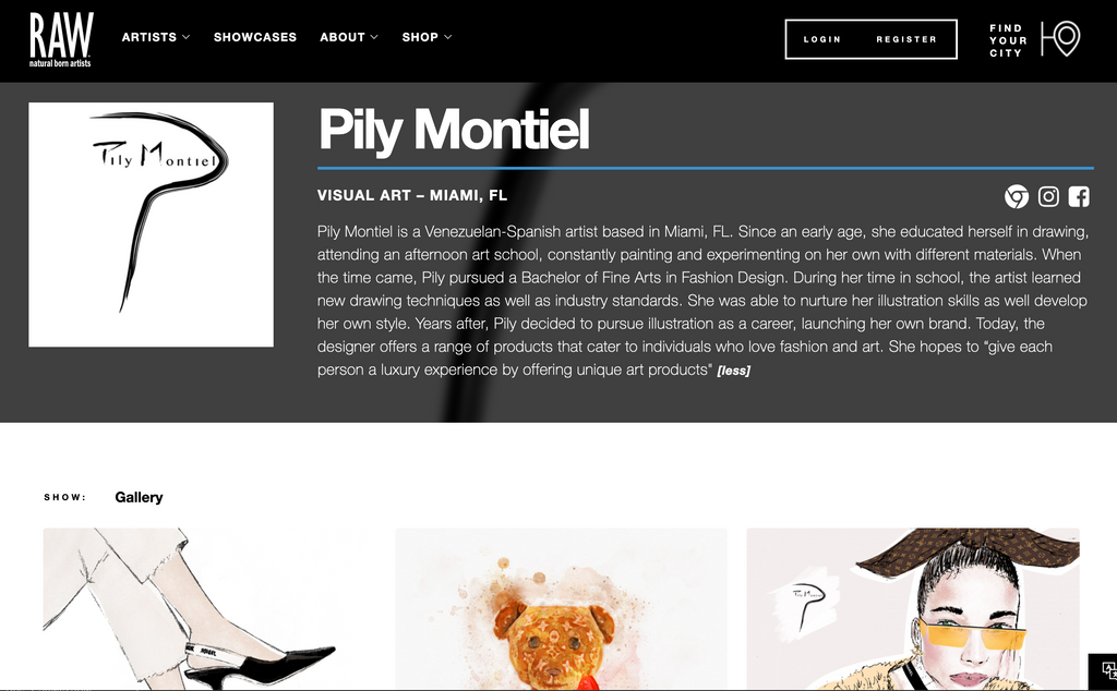 Visual Art: Pily Montiel by Raw Artists