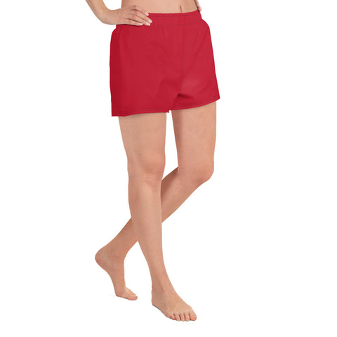 Red Athletic Short Shorts