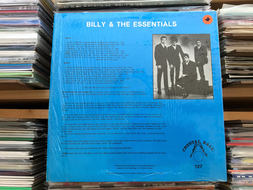 Billy & The Essentials - Lonely Weekends (Used)