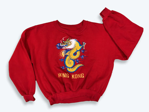 Vintage Embroidered Hong Kong Sweatshirt