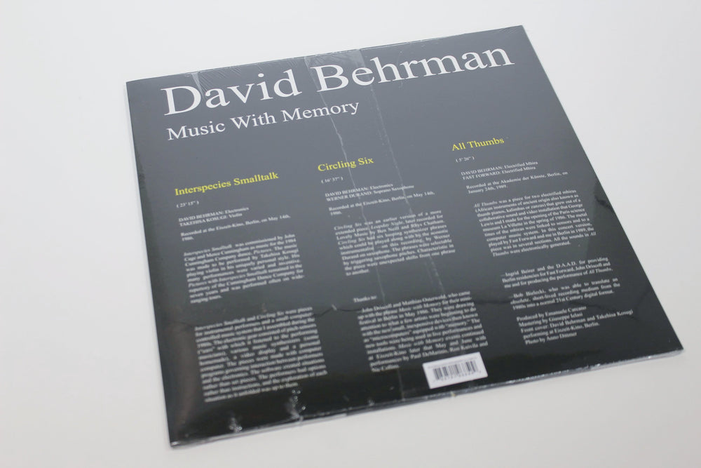 David Behrman - Music With Memory