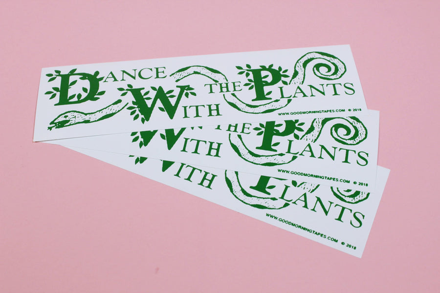 Dance with the Plants Bumper Sticker