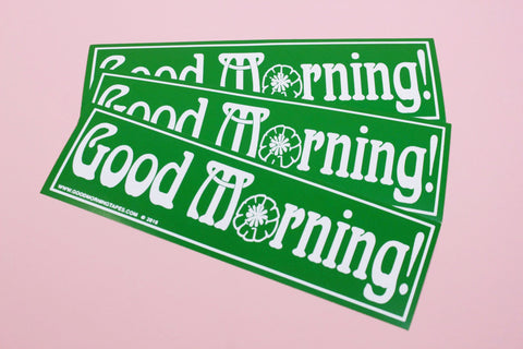 Good Morning Tapes Bumper Sticker